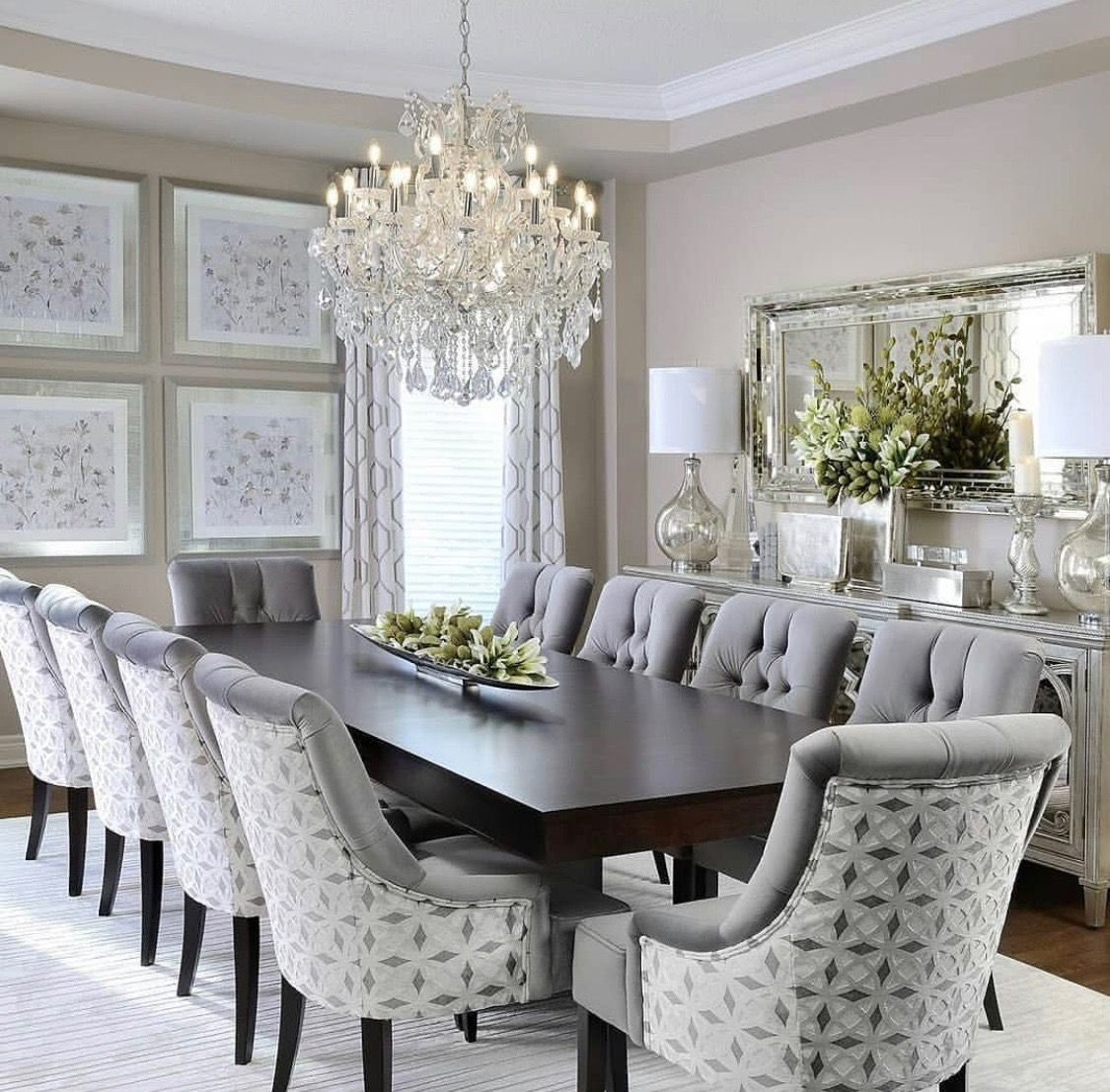 Beige Instead Of Gray Elegant Dining Room Dining Room Table