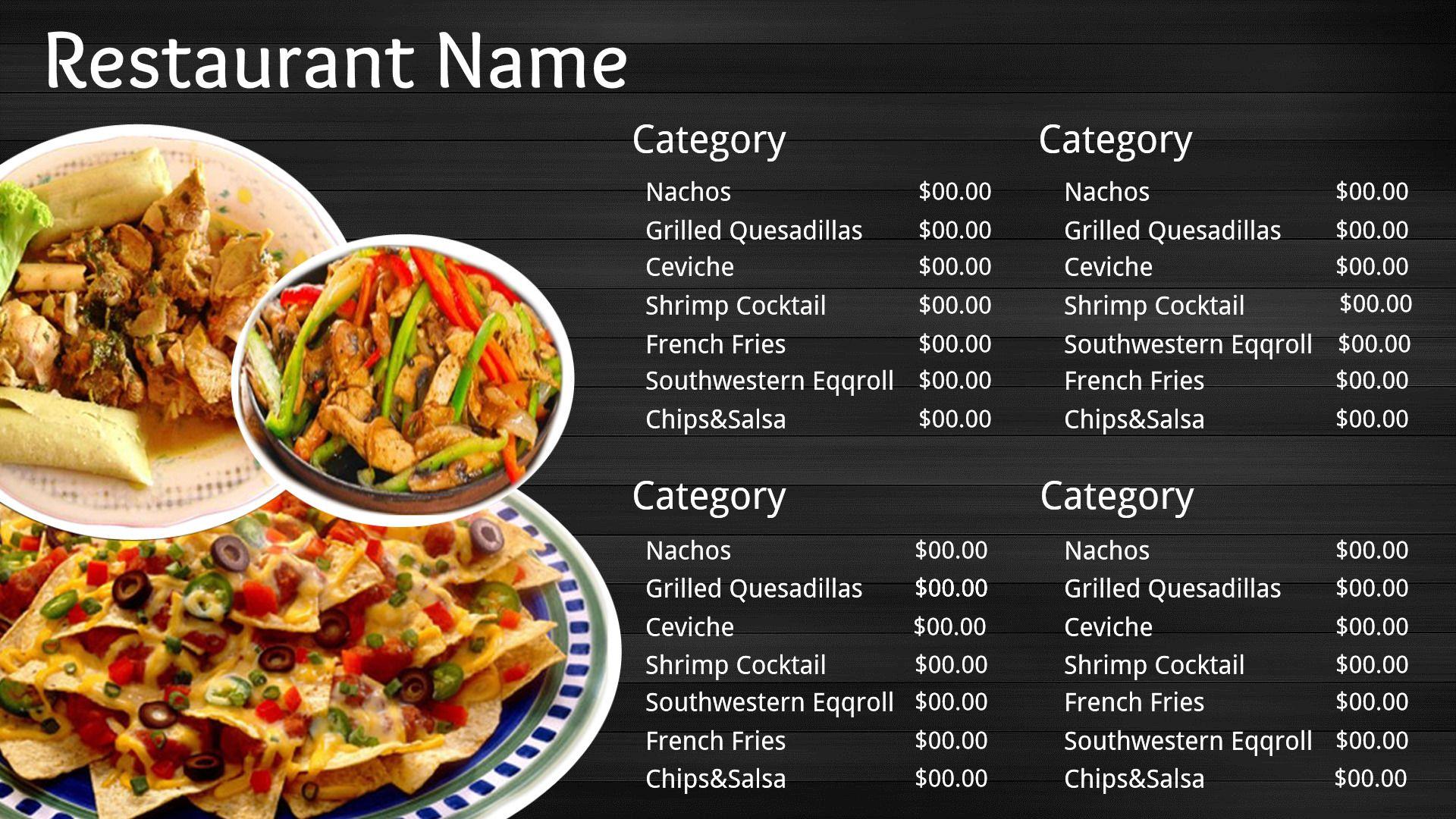 Image result for mexican restaurant digital menus