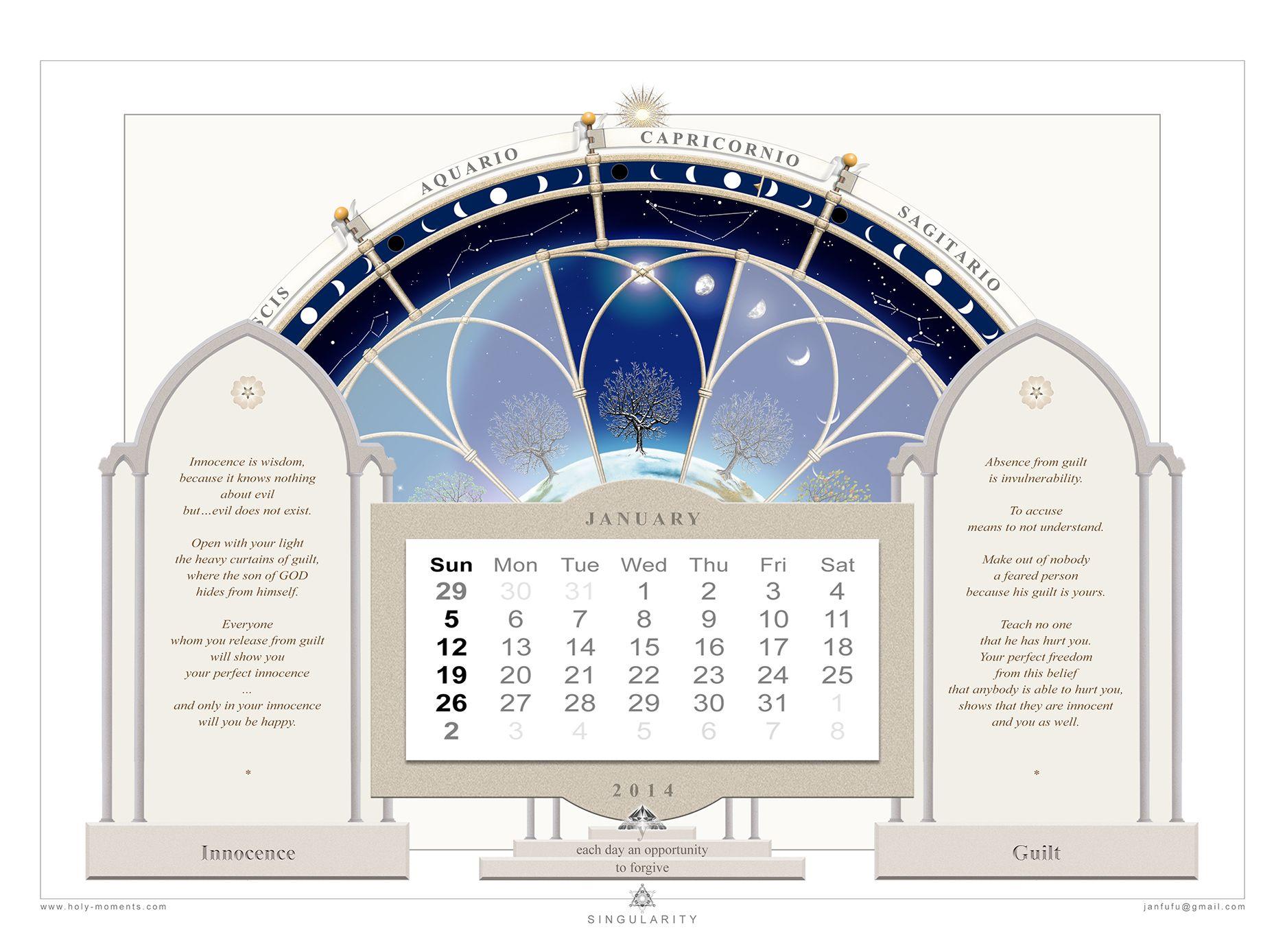 Calendar English January Janfufu