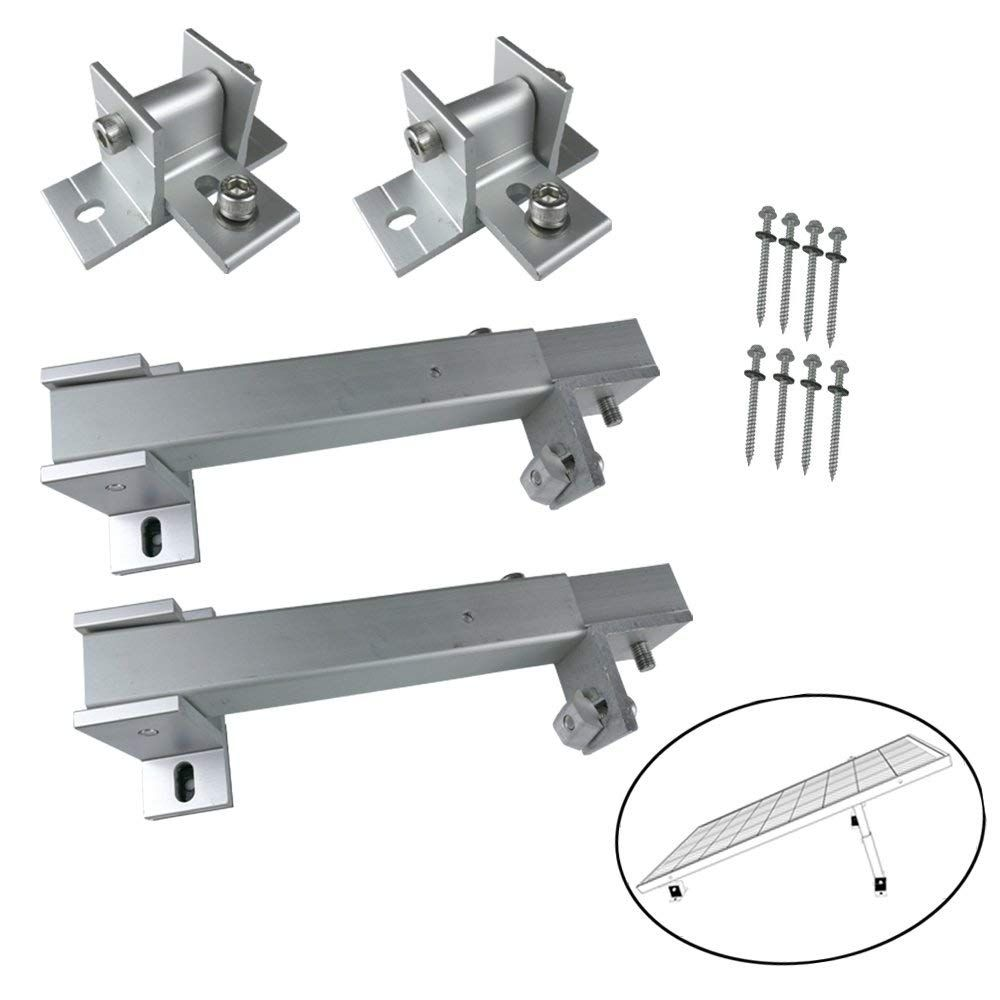 Smarkey Adjustable Solar Panel Roof Tilt Mounting Brackets Solar Panels Roof Solar Panels Mounting Brackets