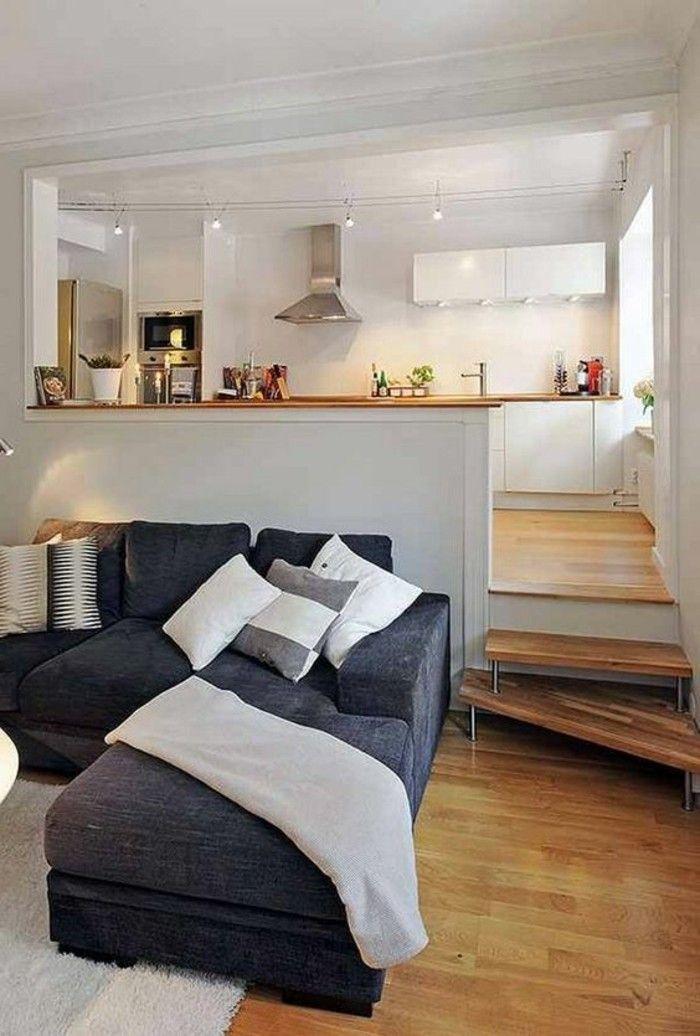 Come arredare salotto piccolo in un open space con la cucina ...