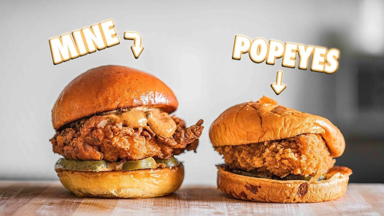 Making The Popeyes Chicken Sandwich At Home, But Better