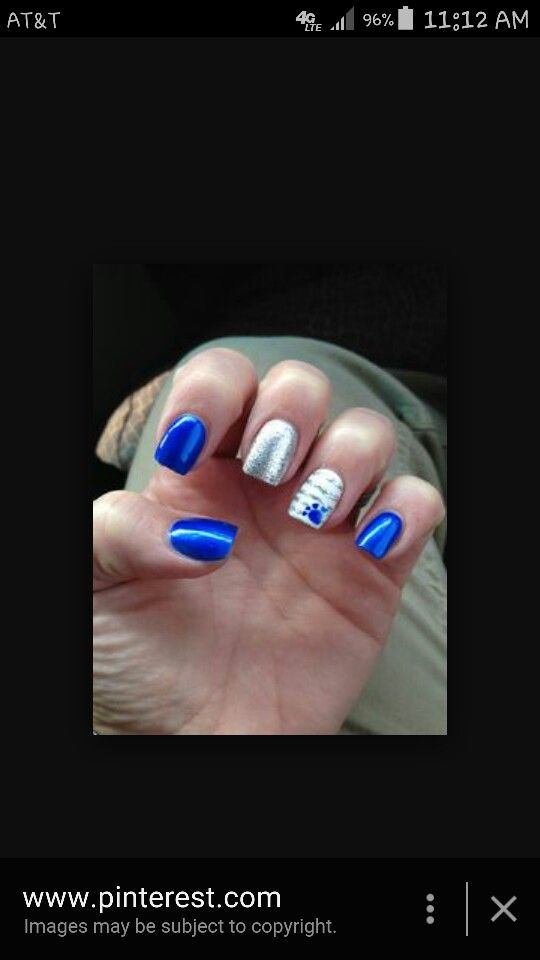 Kentucky wildcats nail art | Nail designs | Pinterest | Uk nails