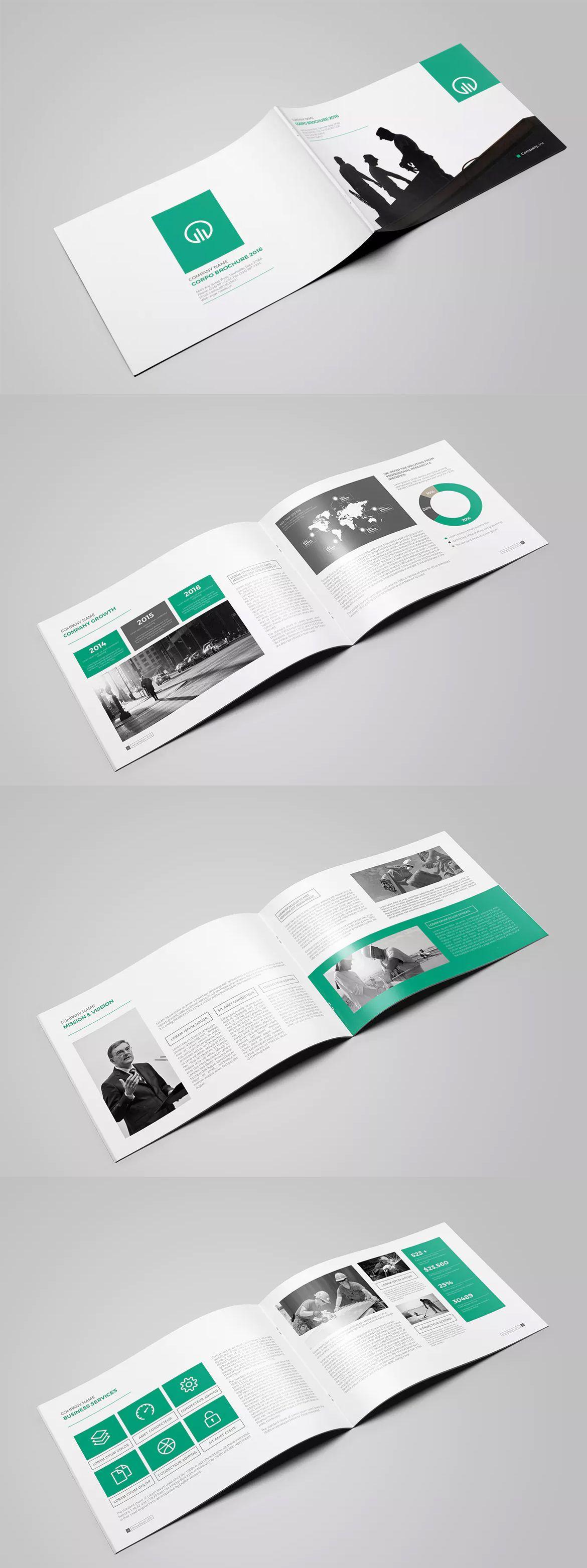 Landscape Multipurpose Brochure Template InDesign INDD A - Brochure templates indesign