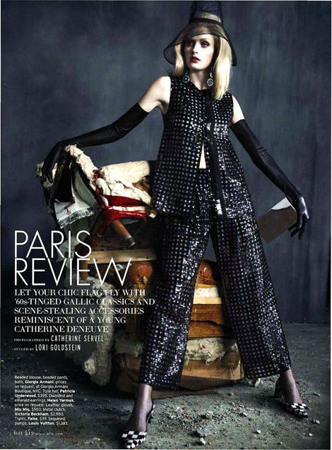Glove Fashion: Heidi Mount in Miu Miu Leather Opera Gloves. Elle US ...
