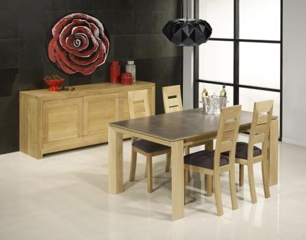 Table Rectangulaire Gaspard En Chene Plateau Ceramique 1 Allonge A L Italienne De 90 Cm Br Prix Malin 1 Mobilier De Salon Meuble En Chene Massif Meuble Bois
