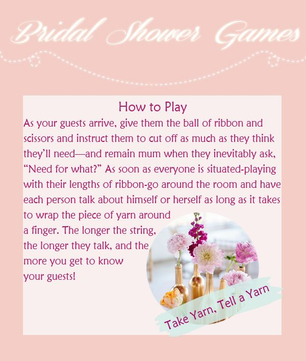 8 Creative Bridal Shower Games To Have Fun Bridal Shower