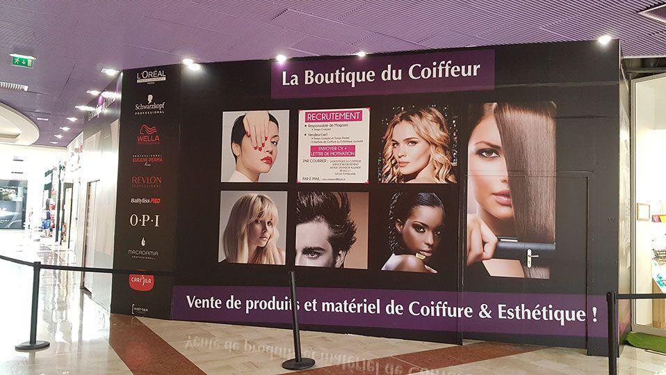 Wall Tek Palissade Chantier Bois La Boutique Du Coiffeur Protection Chantier Centre Commercial Palissade Centre Commercial La Boutique Du Coiffeur