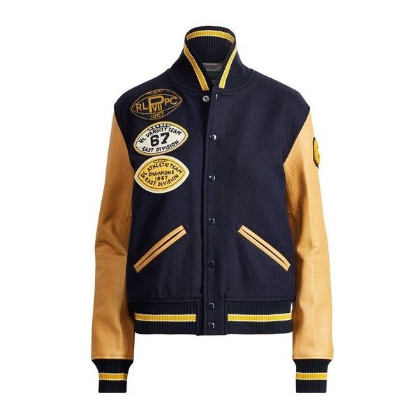 Liked Collegiate Lauren On Bomber Wool Jacket400❤ Ralph Polo odBexrC