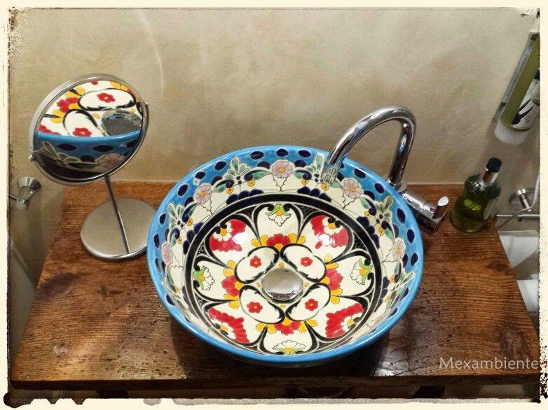 Waschtisch Rustikal rustikales waschtisch mit einem mexikanischen waschbecken
