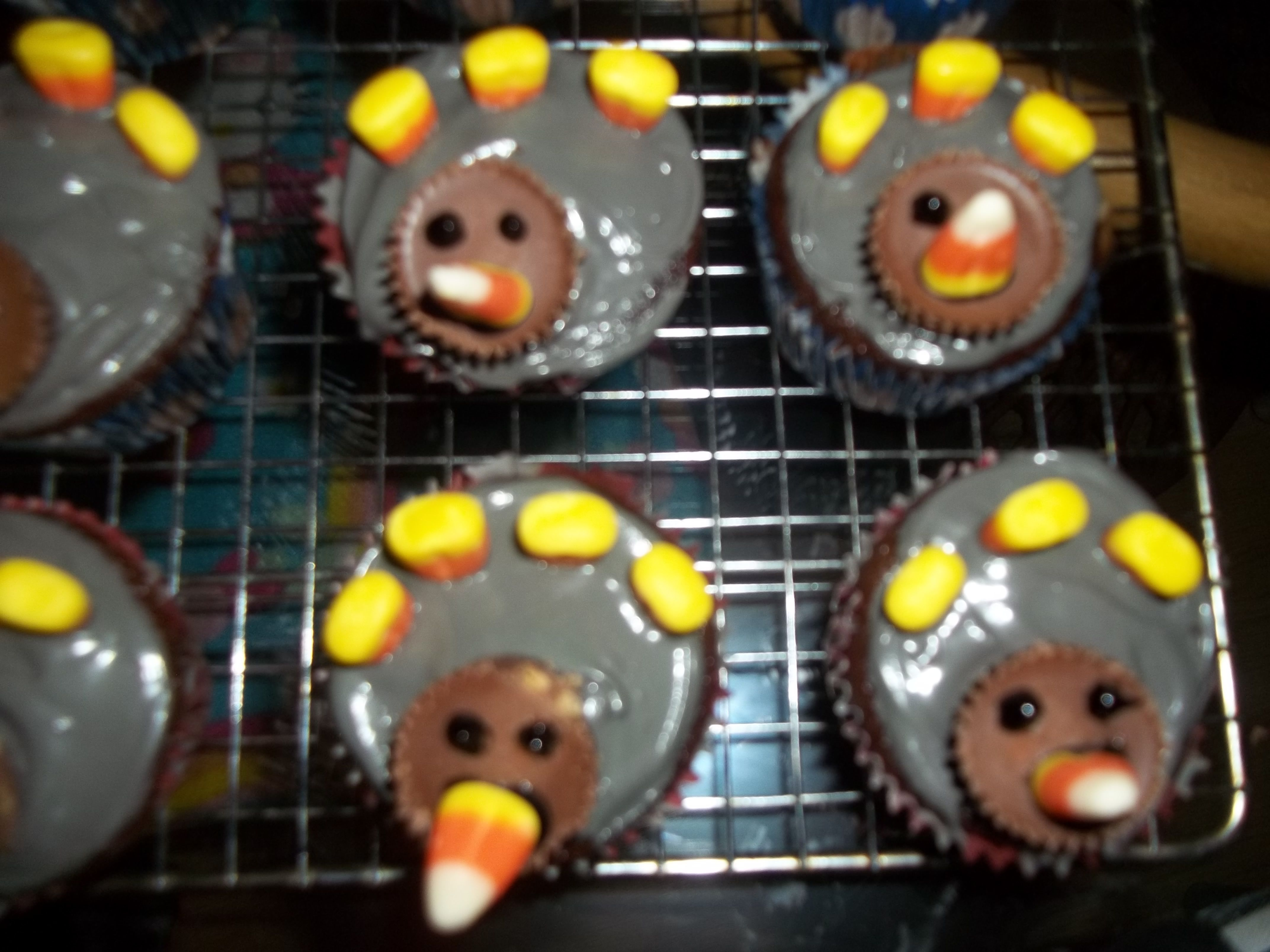 My Turkey Cupcakes For Thanksgiving