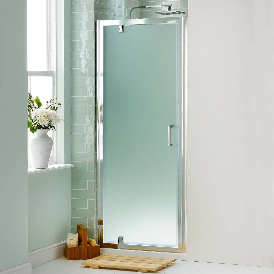 V6 Pivot Frosted Glass Shower Door 800 As A Replacement Door To My