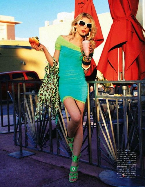 Dree Hemingway by Tommy Ton | Vogue Japan July 2011