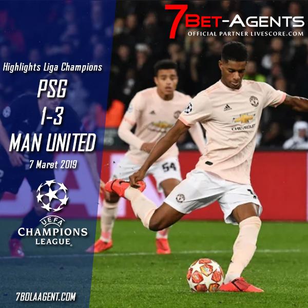 PSG vs Man United Highlights Liga Champions 7/3/2019