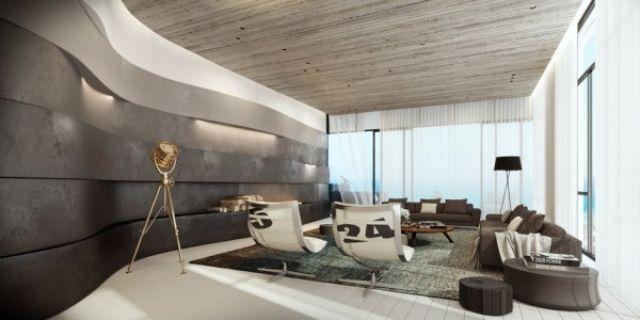 Wohnzimmer einrichten Ideen in Weiß, Schwarz und Grau - wohnzimmer einrichten ideen