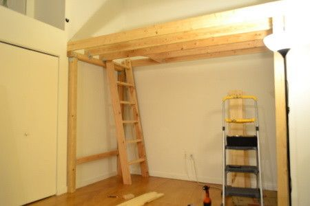 We then installed our ladder in our square hole opening to be able ...