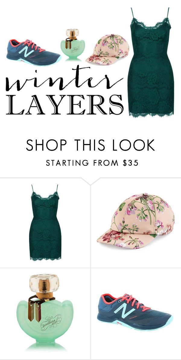 """""""winter layers"""" by ashri-na ❤ liked on Polyvore featuring Topshop, Gucci, New Balance, women's clothing, women's fashion, women, female, woman, misses and juniors"""