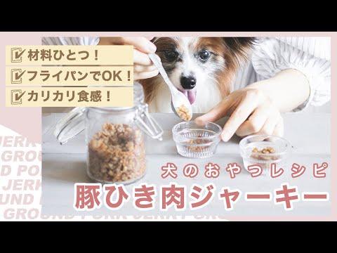 超簡単 豚ひき肉を炒めて犬のふりかけジャーキーを作ろう 手作り犬おやつレシピ Youtube ジャーキー 手作りドッグフード おやつ