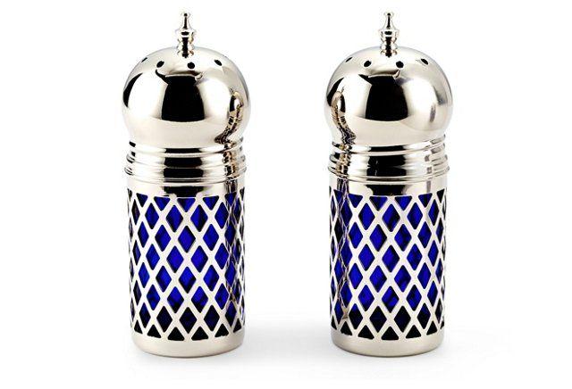 Silver-Plated Salt & Pepper Shaker Set
