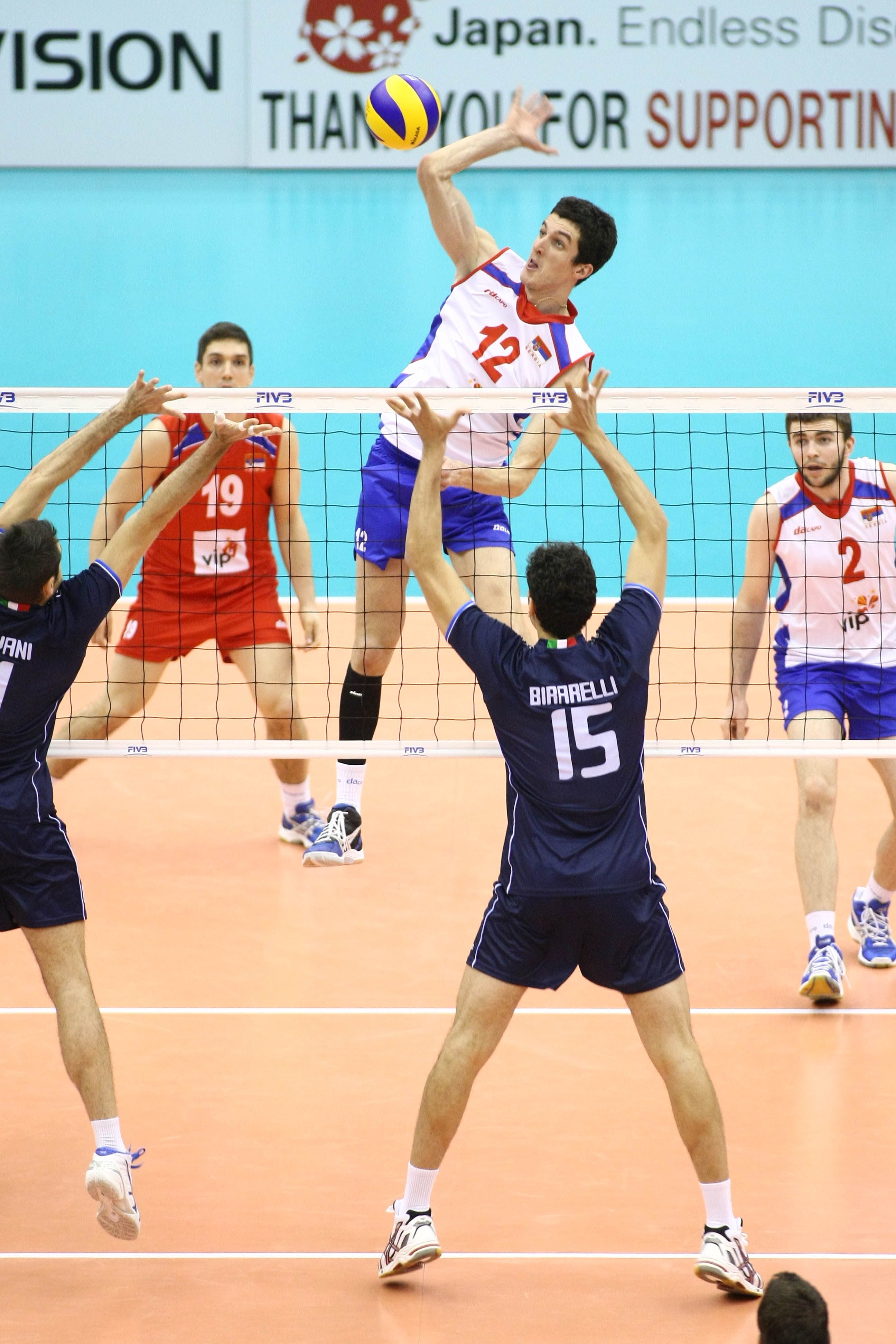 Middle Attack Of Milan Rasic From Serbia In 2020 Volleyball Serbia Volley