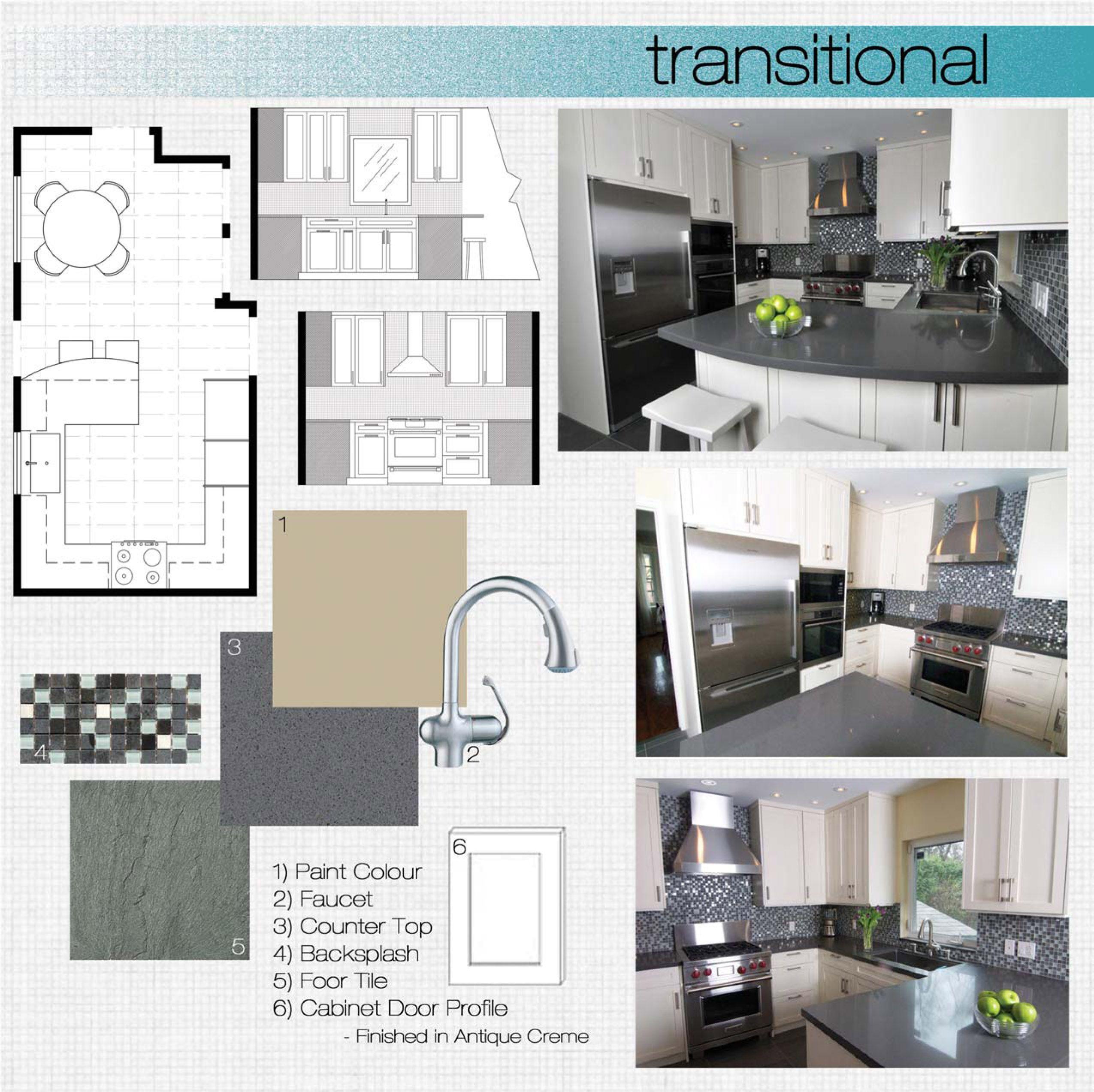 Transitional Kitchen Design Board Kitchen Design