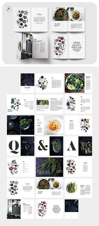 ESENSIAL Food Magazine & Cookbook #editoriallayout