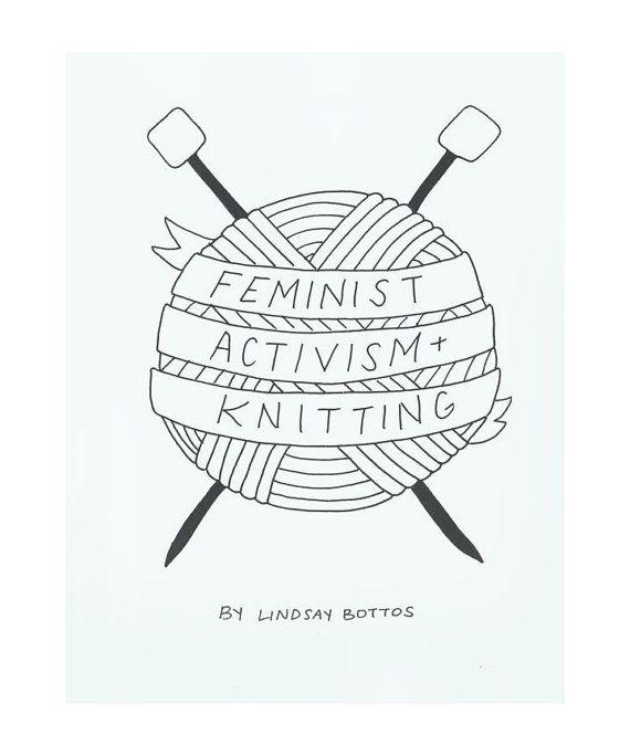 DIGITAL DOWNLOAD Feminist Activism Knitting Zine by