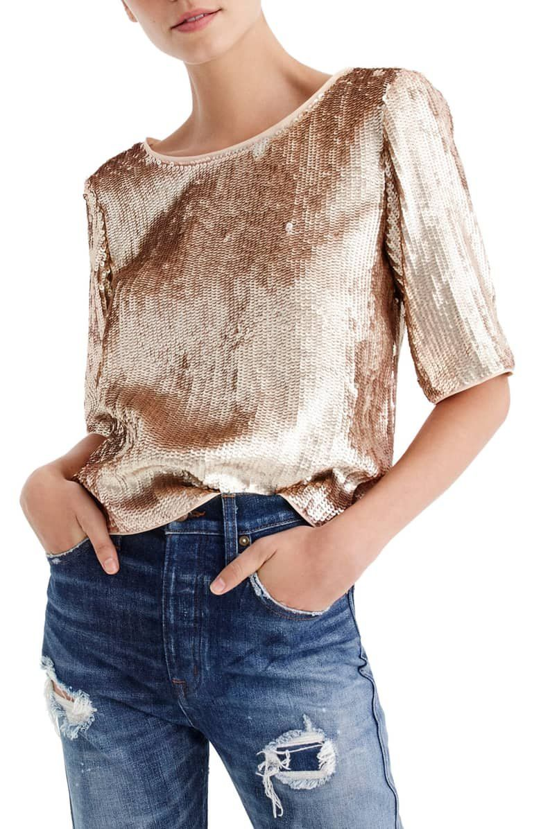 0e69fdae61 Make an entrance at every event with this party-ready sequin top ...