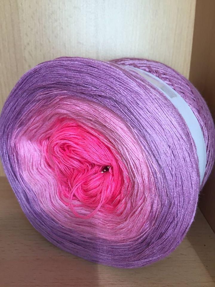 Farbverlaufsgarn Bobbel 200 Gramm Farbe 288 Wolle Häkeln Stricken