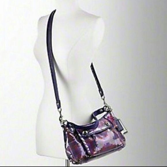 Coach Poppy sequin tartan Groovy bag- Authentic Really cute Coach Poppy  purse. Has a 96db619ca6