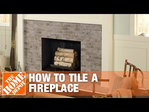 229 How To Tile A Fireplace Surround And Hearth The Home Depot Youtube Installing A Fireplace Fireplace Tile Surround Fireplace Surrounds