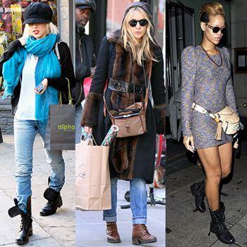 Combat Boots: Dress LIke a Celebrity! | Boyfriends, Combat boots ...