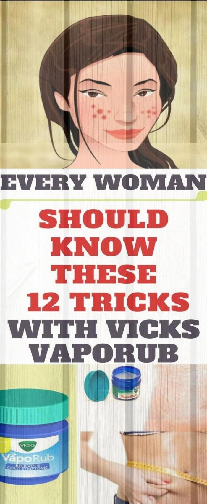 Every Woman Should Know These 12 #tricks With Vicks VapoRub - Good to know! #health #fitness #OtherU...