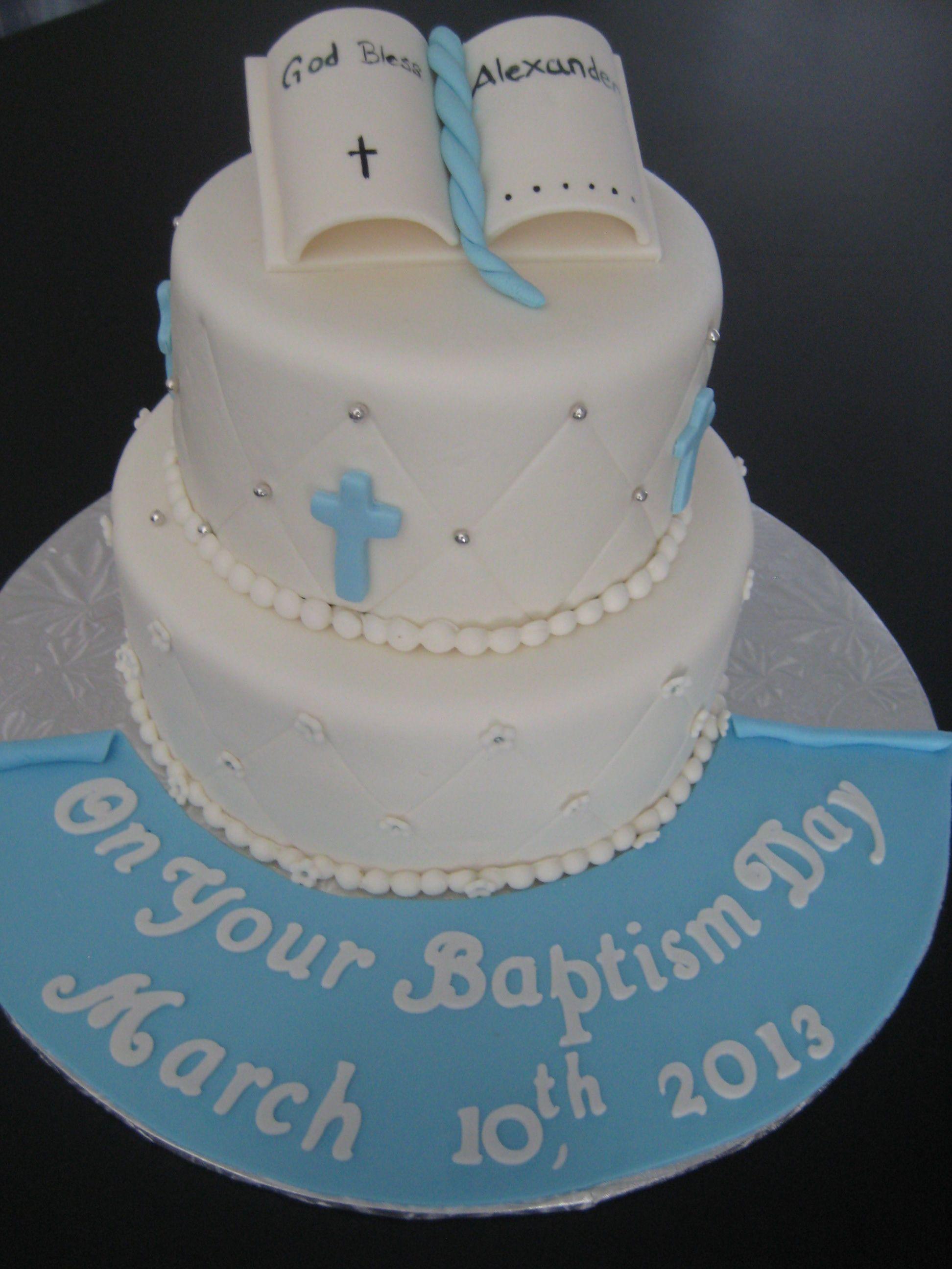 Boy Baptism Cake | Christening cake boy, Baptism cake boy ...