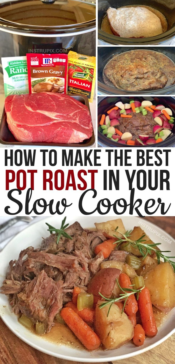 The Most Incredible Easy Slow Cooker Pot Roast Recipe