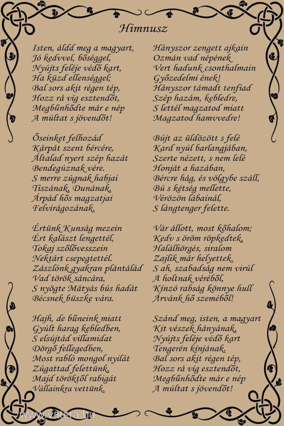 magyar himnusz szövege - Google keresés   Quotes, Journal ...