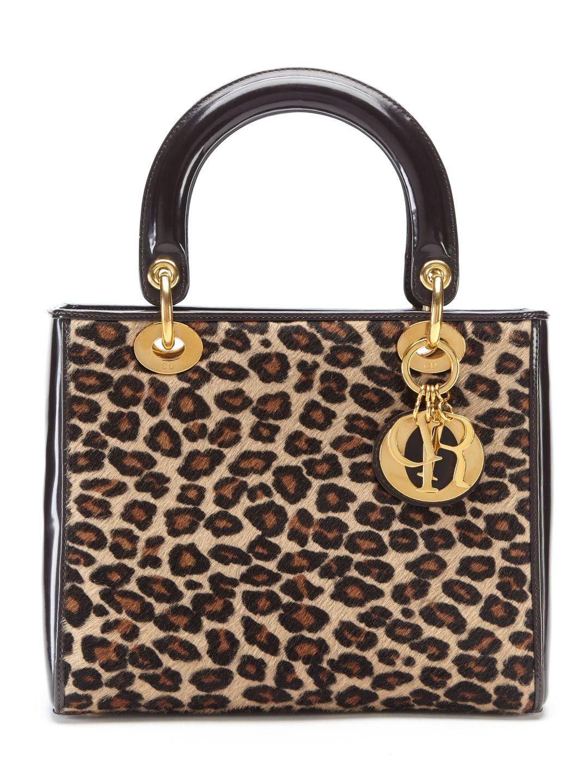 Dior Leopard Print Pony Hair Baguette Bag chXQA