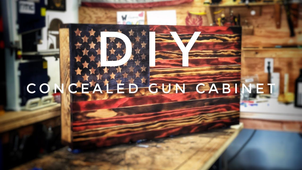 How To Make a Wooden American Flag Concealed Gun Cabinet