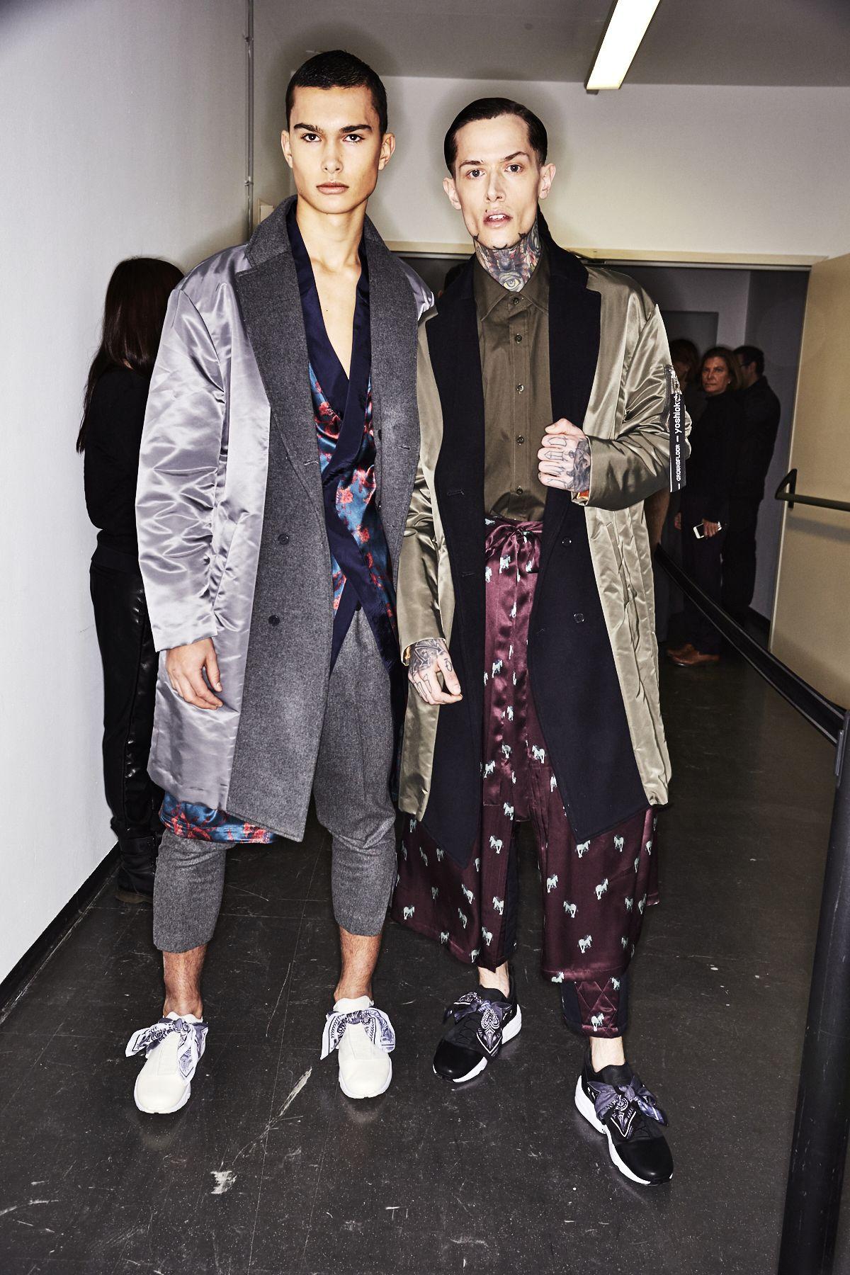 Sonny Vandevelde - Yoshio Kubo Fall 17 Men Fashion Show Milan Backstage