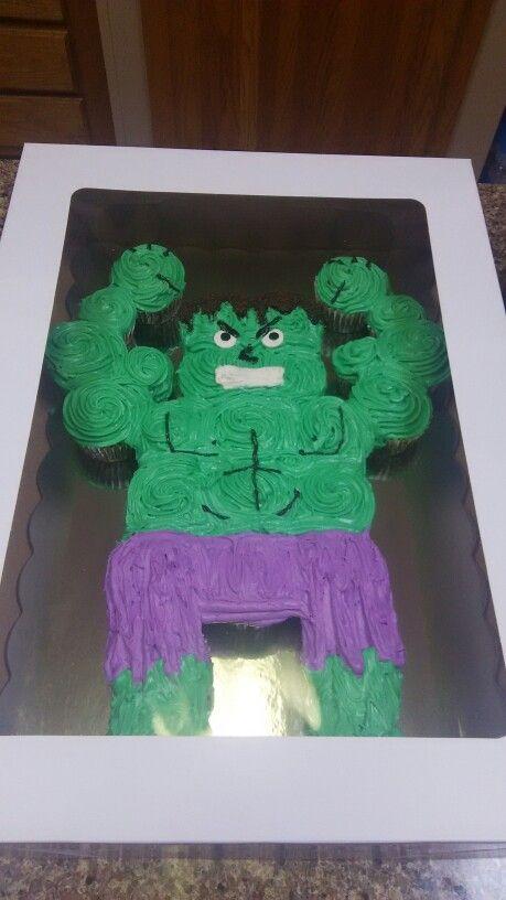 Hulk Cupcakes Cake Pinterest Hulk Cupcakes Birthdays And Hulk