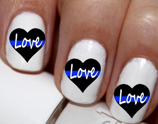 20 pc Police Love Cop Love I Love My Police Man Nail Art Nail Decals Nail Stickers Lowest Price On Etsy #cg976na