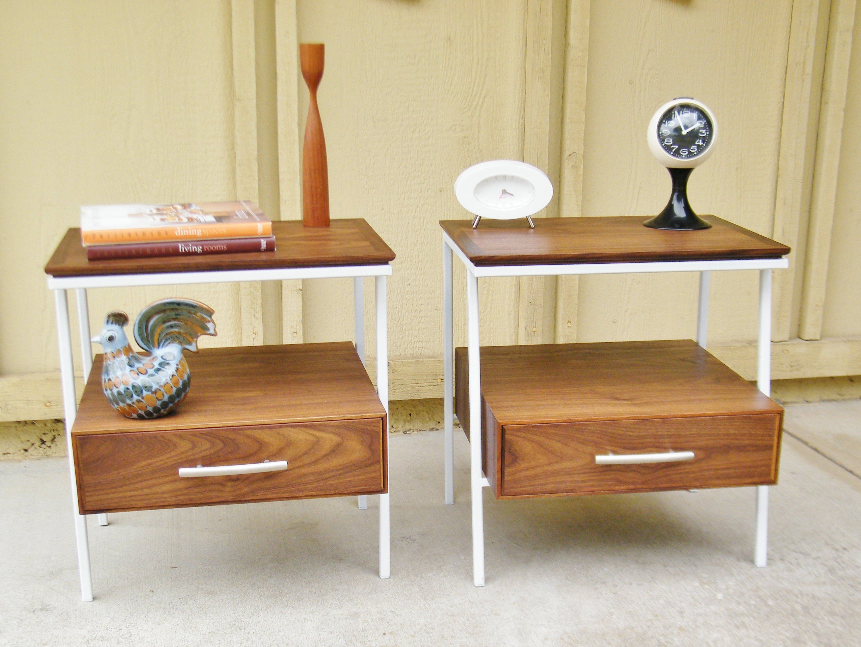 Vista Of California Nightstands  Mid Century End Tables