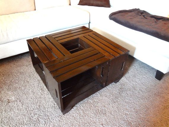 Shabby Chic Hand Made Crate Coffee Table, Rustic   Coffee Table, Crate Table