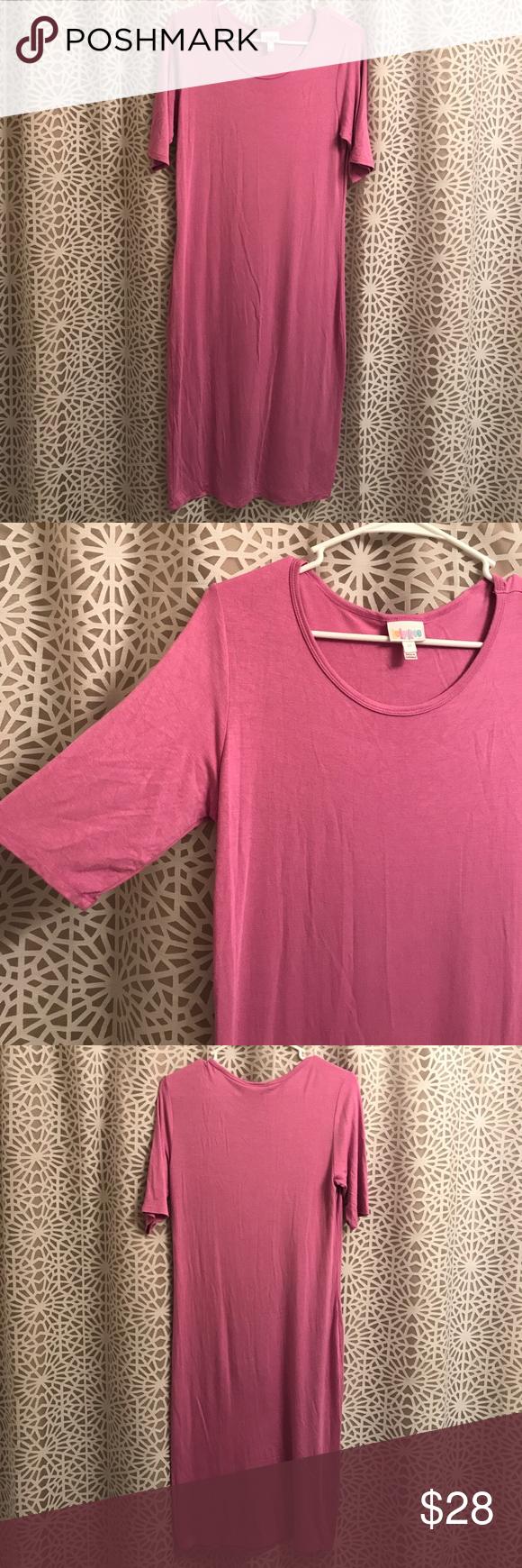 Magenta lularoe tshirt dressnwot super soft magenta stretch cotton