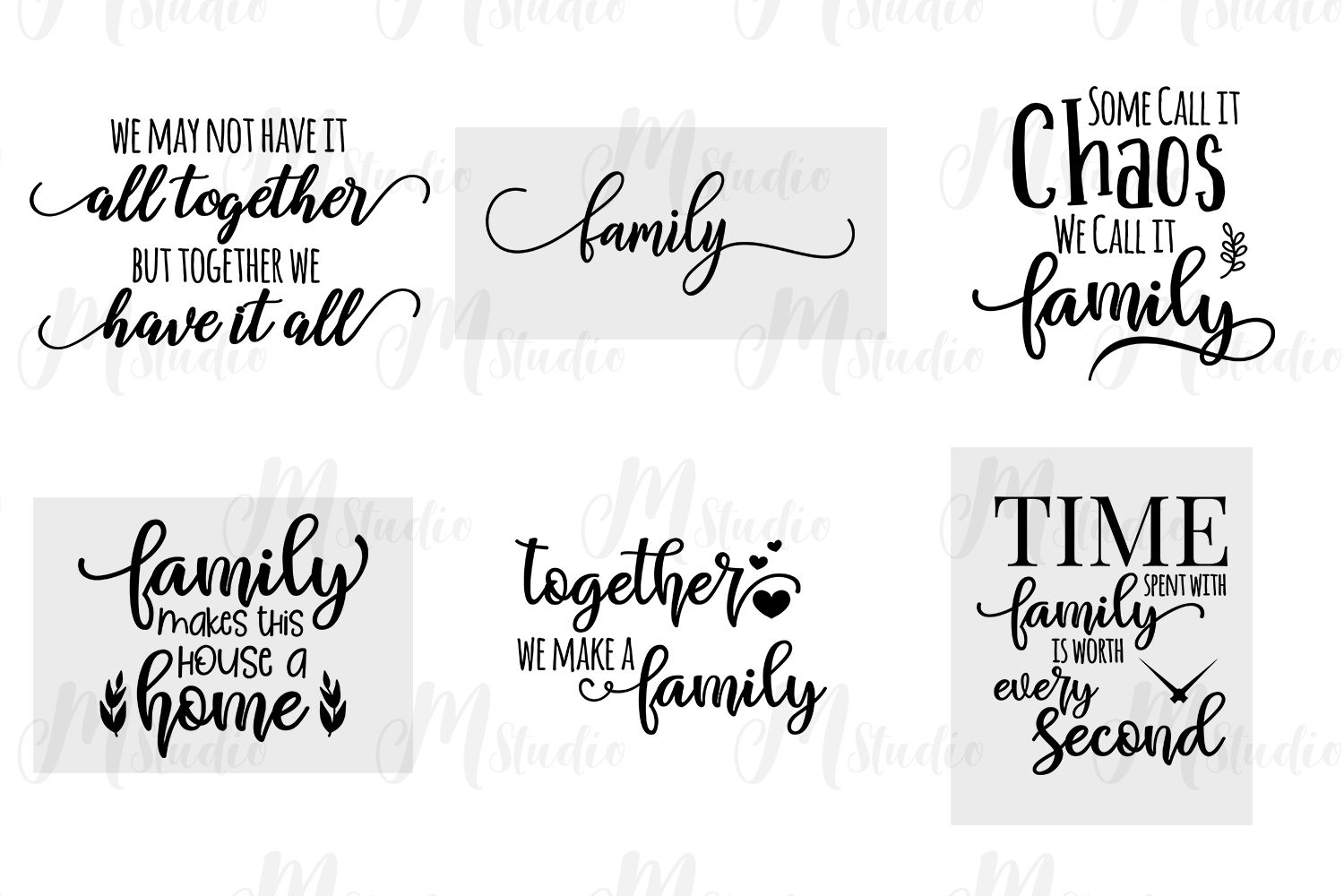 Family Quotes Svg Bundle With Images Svg Quotes Family Quotes