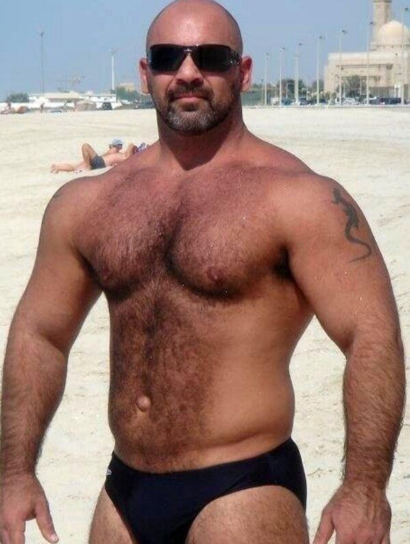Big and hairy men