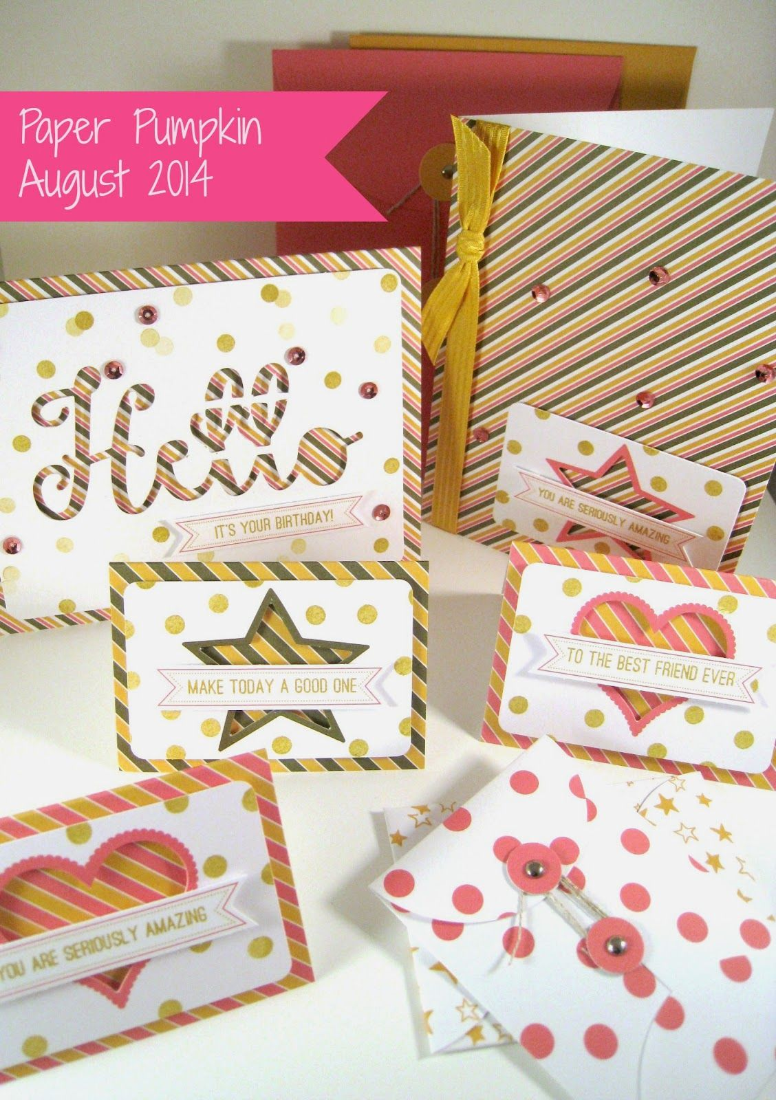 Happily Ever Crafter:  Finished August Paper Pumpkin Projects! Stampin' Up! Demonstrator, Angie Britt