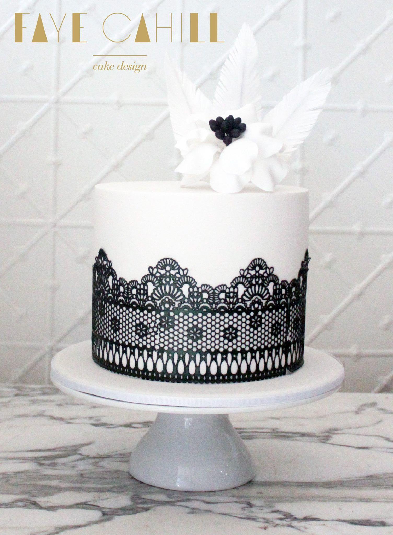 Faye Cahill Cake Design | Cake - Black & White | Pinterest | Cake ...