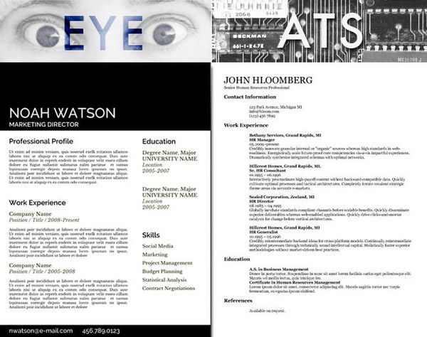 Resume Templates and Applicant Tracking Systems (ATS), Which type of - ats resume template
