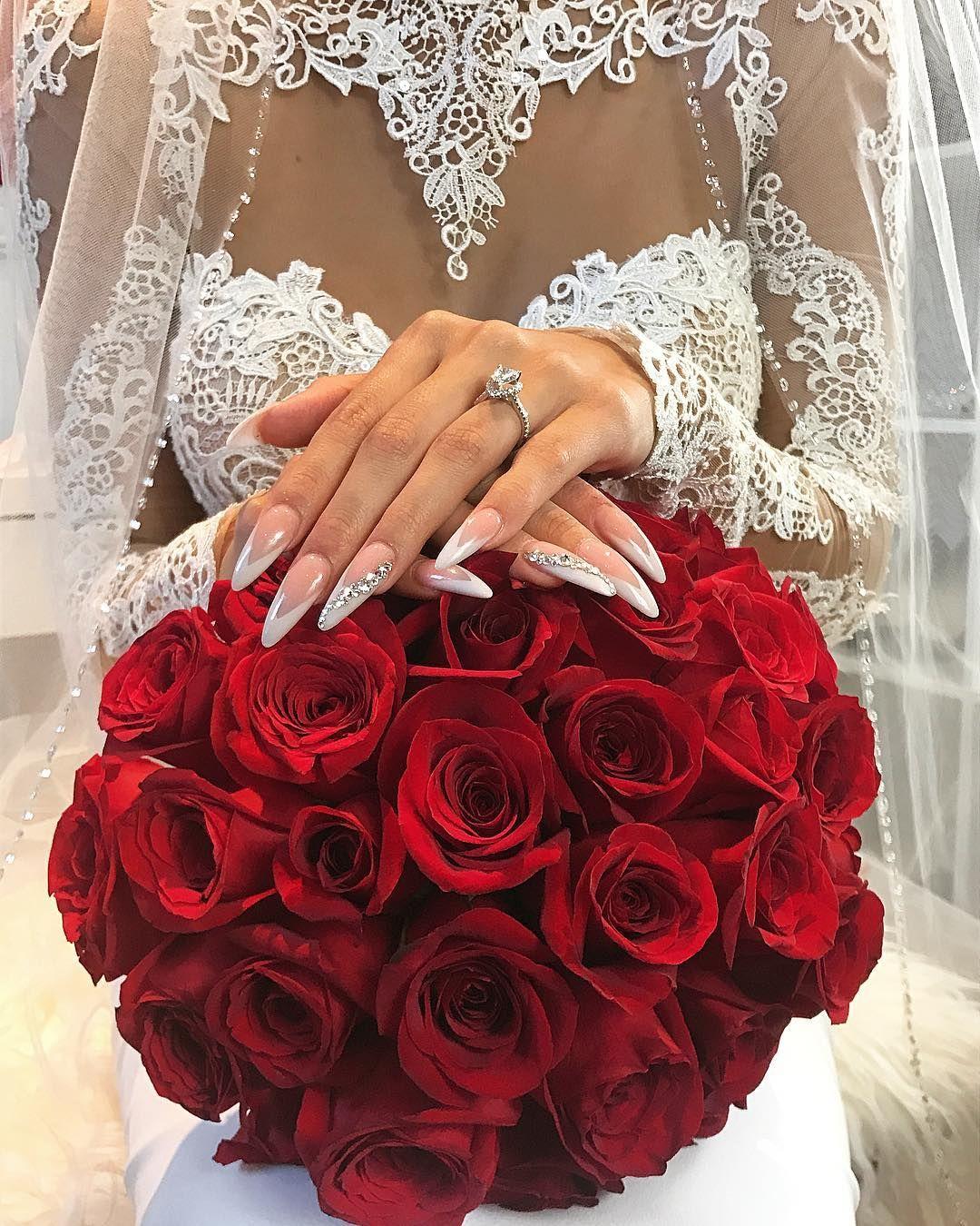 Fashion Flowers And Girl Image Red Rose Wedding Silk Flowers Wedding Wedding Arrangements [ 1350 x 1080 Pixel ]